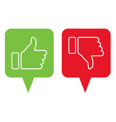 Like and dislike icons thumbs up and down vector
