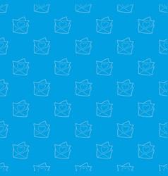 love letter pattern seamless blue vector image