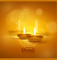 Luxury diwali festival greeting background with vector