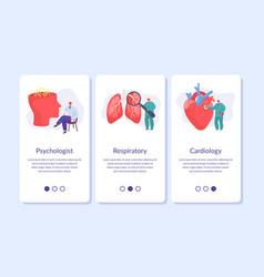 Medic banners set for mobile app medicine vector