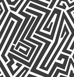 monochrome maze seamless pattern vector image