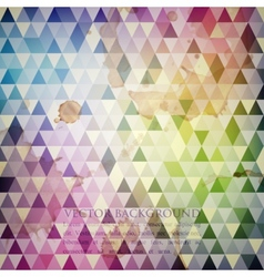 Multicolored background with grunge mosaic texture vector