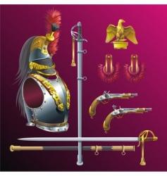 Napoleonic cuirassiers armament vector