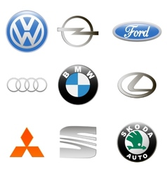 New auto logo set vector