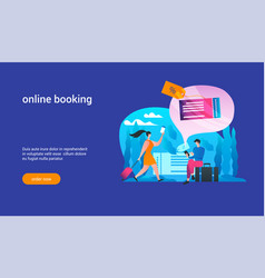 online booking concept2 vector image