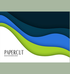 Papercut layers background in business theme vector