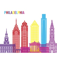 Philadelphia skyline pop vector
