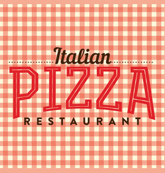 Pizza italian restaurant logo vector