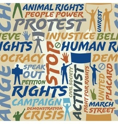 Protest seamless tile vector image