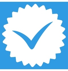 Quality icon from competition success bicolor vector
