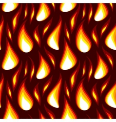 red flame seamless background vector image