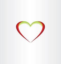 red green heart icon vector image