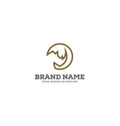 Rhino logo design vector