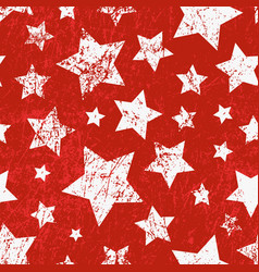 seamless childish pattern with stars grunge vector image