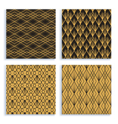 seamless pattern in art deco style set four vector image