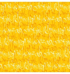 Seamless pattern with hand drawn letters vector image vector image