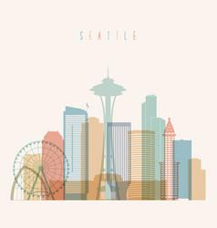 Seattle state washington skyline silhouette vector