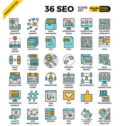 seo - search engine optimization icons vector image
