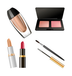 Set of different cosmetics vector