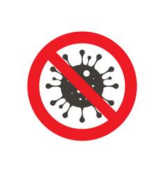 Sign caution coronavirus vector