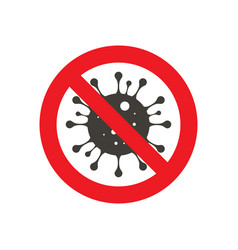 sign caution coronavirus vector image