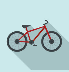 sport bicycle icon flat style vector image