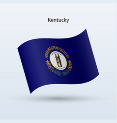 state of kentucky flag waving form vector image