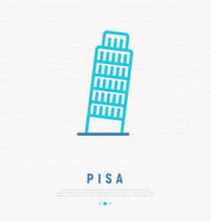 tower pisa thin line icon vector image