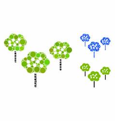 tree garden mosaic icon spheric items vector image