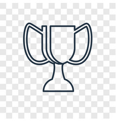 Trophy concept linear icon isolated on vector