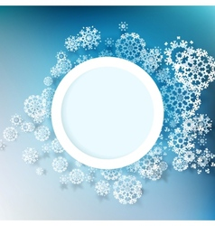 Winter design with snowflakes EPS 10 vector image