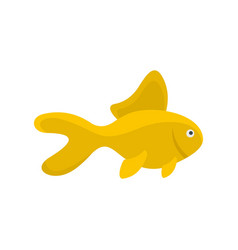 yellow fish icon flat style vector image