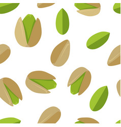 pistachios seamless pattern in flat design vector image vector image