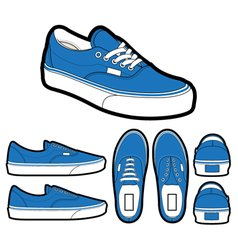 Classic era shoes vector