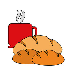 coffee and pastry icon image vector image vector image