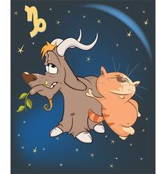 Zodiac signs capricorn cartoon vector