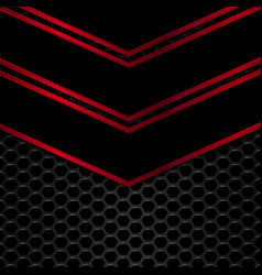 Black and red metal background vector image vector image