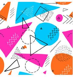 memphis design 80s geometric style seamless vector image vector image