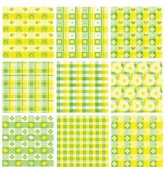 patchwork patterns vector image
