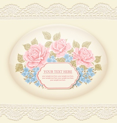Vintage background with roses vector image vector image