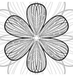 Abstract striped flower background vector image vector image