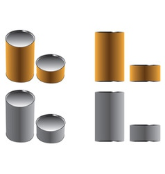 cans paper brown and gray two color two views illu vector image vector image