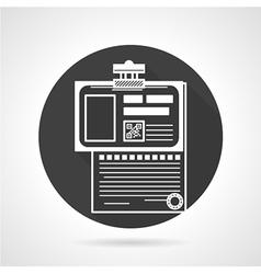 Medical history black round icon vector image vector image