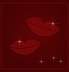 Rhinestone Valentines Day Template vector image vector image