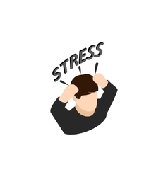 Stressed businessman icon isometric 3d style vector image vector image