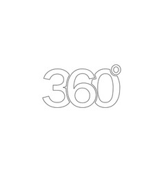 360 degrees flat icon vector
