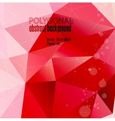 abstract colorful polygonal background vector image