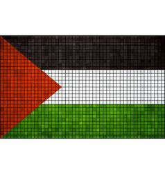 Abstract Mosaic Flag of Palestine vector