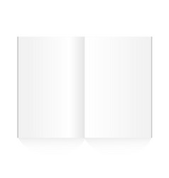 blank magazine spread on white background vector image