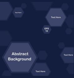 Blue pentagon background for presentation vector